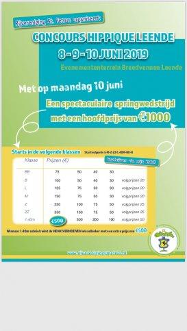 Concours Hippique leende 30-31 mei en 1 juni 2020