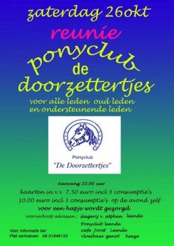Reünie Ponyclub de Doorzettertjes